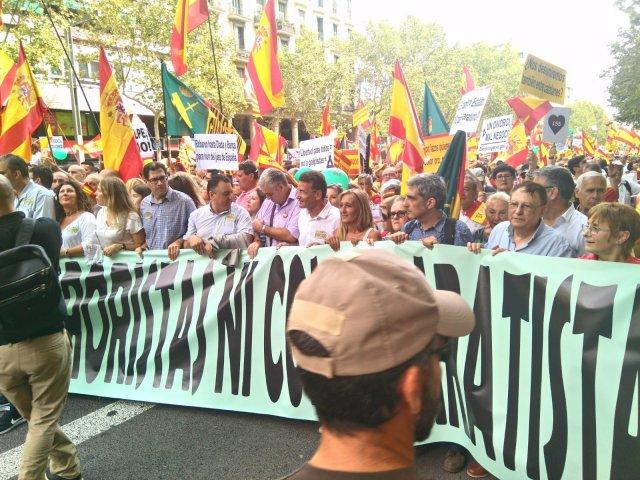 DENAES participó el 09/09/2018 en la manifestación celebrada en Barcelona (España)
